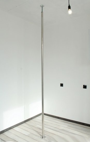 Pole for pole dance. Mountable, portable pole for installation at any height from 2.4 m to 3 m