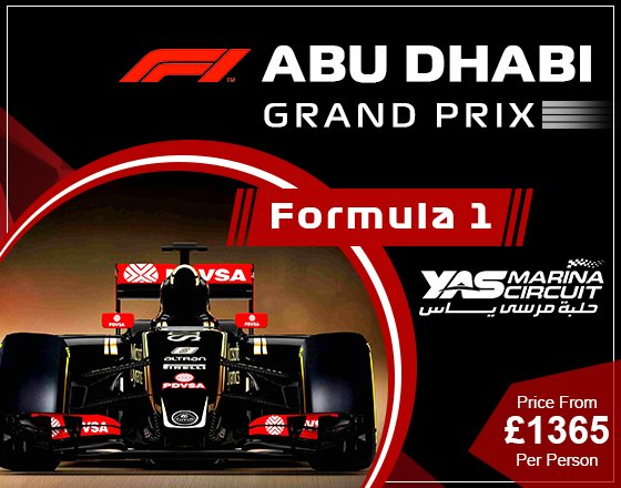 Book Abu Dhabi Gp Packages and Abu Dhabi Grand Prix Packages from UK