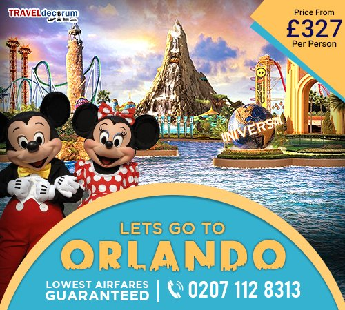 Book Flight Tickets to Orlando from London and London to Orlando Cheap Flights
