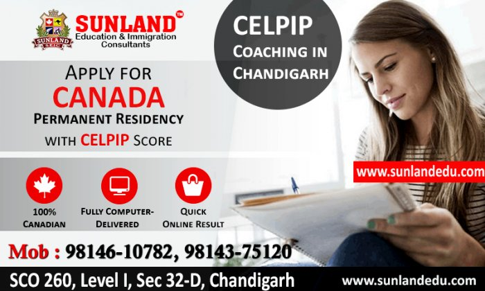 BEST CELPIP COACHING CENTER IN CHANDIGARH | SUNLAND EDUCATION - Immigration Consultants in Chandigarh