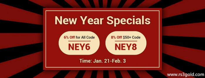 2020 New Year Specials:Up to 8% off Code NEY8 to buy RS3 gold on RS3gold.com