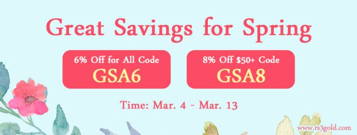 Last Chance to Enjoy 2020 Spring Celebration with Up to 8% off rs gold Till Mar.13