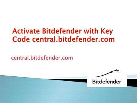 central.bitdefender.com - Download, Installation, and Activate - Bitdefender Activate