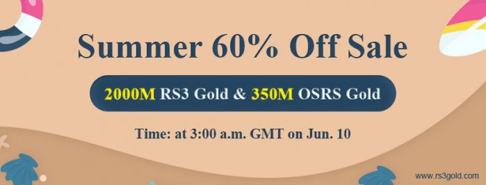 Happy to Participate in Summer Flash Sale on RS3gold for Up to 60% off rs3 gold Jun 10