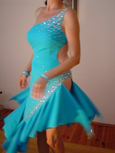 Amazing blue latin dress