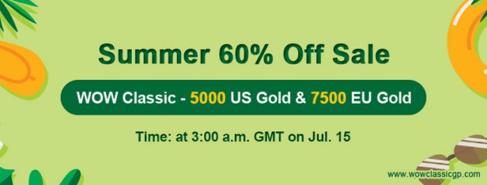 Don't forget Up to 60% off classic wow gold for WOW Classic Shadowlands
