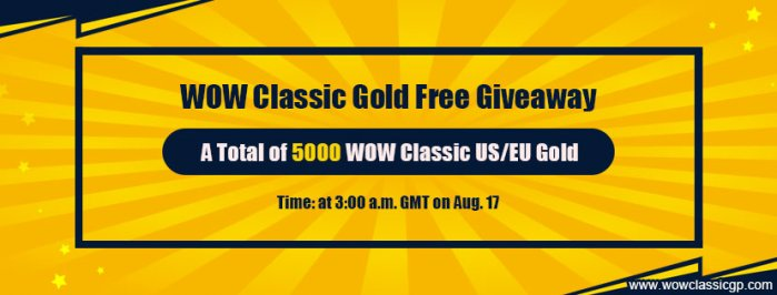 Getting ready for WoW Shadowlands with Free 5000 Cheapest wow classic gold on WOWclassicgp