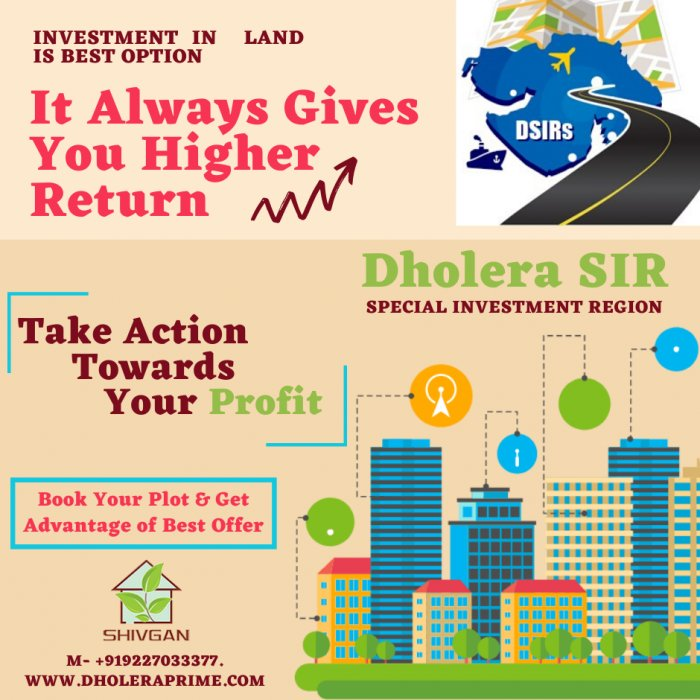Dholera SIR Plots Investment - Pay 6666 Rs DP & Book Your Plot