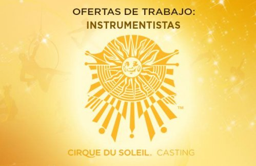 Cirque du Soleil is looking for a guitarist/vocalist to be part of new Big Top touring show to be presented in 2016.
