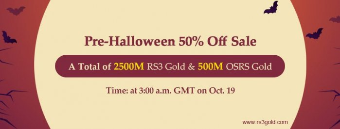 Runescape Gold with Up to 50% off for you to Spend a Meaningful Halloween Holiday