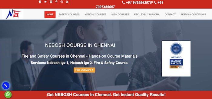 NEBOSH Course in Chennai | Safety Officer Course in Chennai | nationalsafetyschool.com