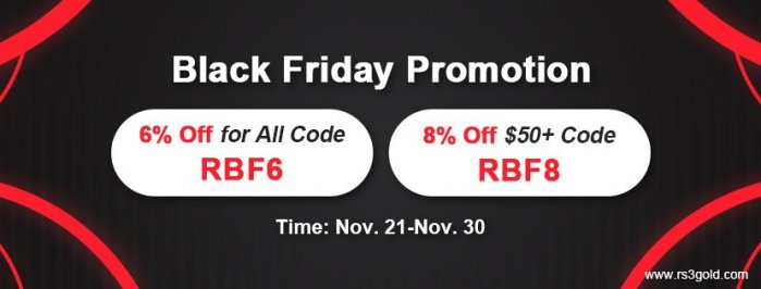 Top Sale for 2020 Black Friday: cheap rs3 gold with Up to 8% off Code RBF8 for you