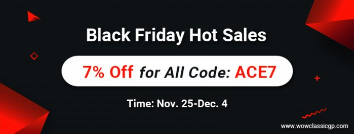 Black Friday Celebration! cheap wow classic gold for sale with Up to 7% off Code ACE7