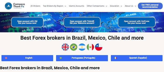 Best Forex brokers in Brazil, Mexico | CompareThemFx