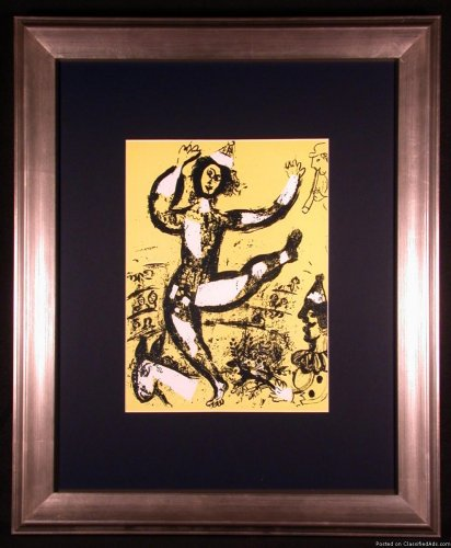 The Circus (in Yellow) Original Lithograph by Marc Chagall