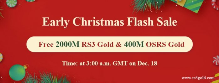 One Day Only! Can you Miss Free 2000M rs3 gold for Christmas Holidays Dec.18