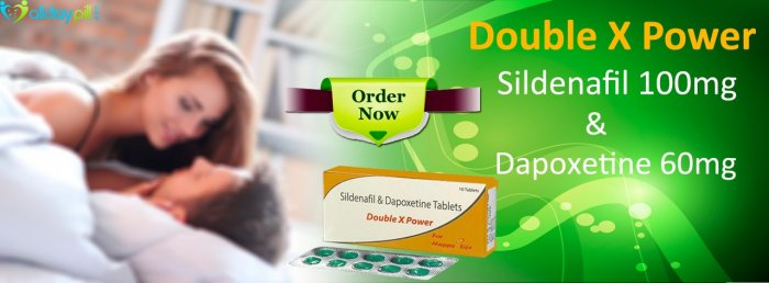 Sildenafil Dapoxetine Tablets Online l Double X Power 160mg