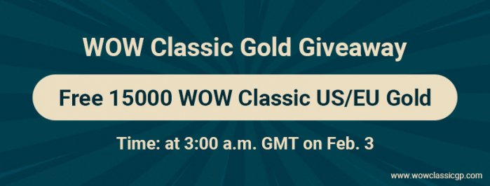 Free 15000 classic wow US/EU Gold Given Away for WoW Classic Scarlet Monastery Gold Farming