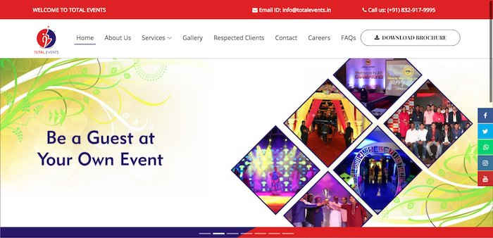 Total Events | Event Management Company