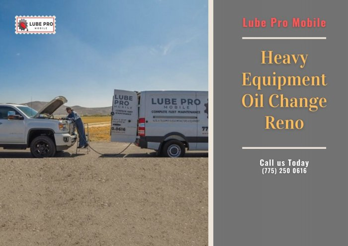 Mobile Diesel Mechanic Reno - lube pro mobile