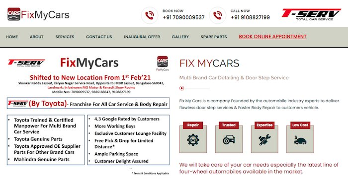 Car Dent and Paint Service | Car Services Center | Fixmycars.in