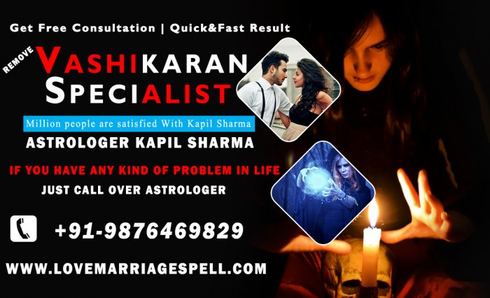 Black Magic Specialist in Hyderabad - Astrologer Kapil Sharma Ji Call +91-9876469829 - India
