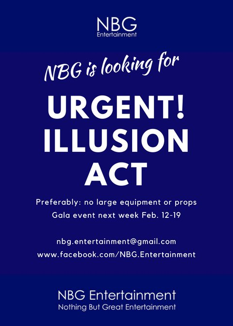 Urgent! Illusion act needed
