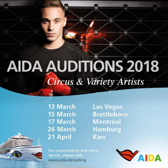 AIDA audition line-up for Circus and Variety Artists in 2018
