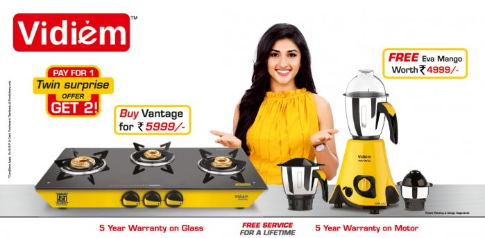 Buy Gas Cooktops, Grinders, Hobs Online at Best Prices in India – Vidiem.in