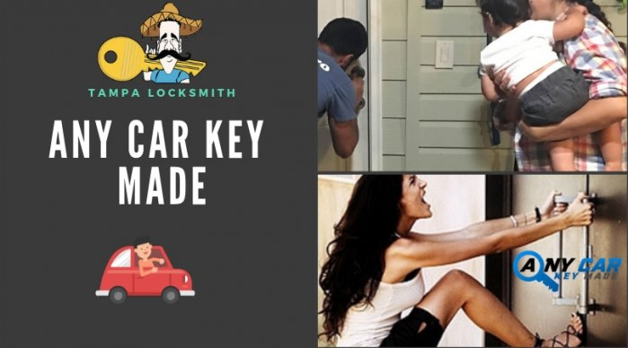 Any Car Key Made | Locksmith Tampa | Residential Locksmith in Tampa