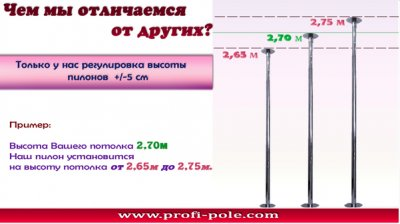 Buy Static Pole `Profi` for professional Pole Dance